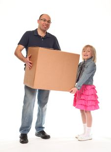 Free Young Little Girl With Father Stock Images - 14210454