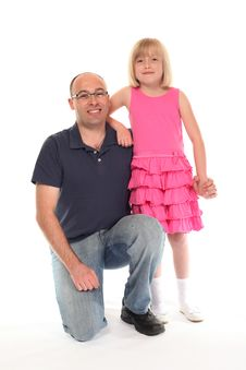 Free Young Little Girl With Father Stock Image - 14210471