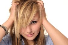 Free Attractive Young Teenage Girl Portrait Stock Image - 14210681