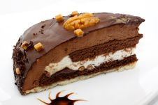Free Cake Truffle With Chocolate Sauce Stock Image - 14210891