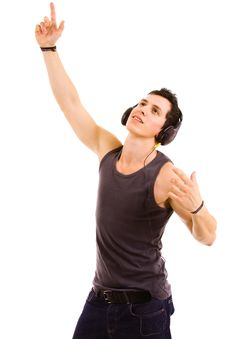 Free Young Man Listening Music Royalty Free Stock Photo - 14211665