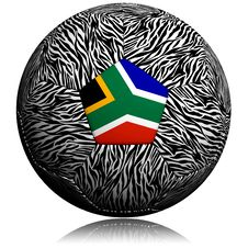 Africa Zebra Soccer Ball Royalty Free Stock Image