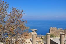Bay In Lindos. The Island Of Rhodes. Royalty Free Stock Photography
