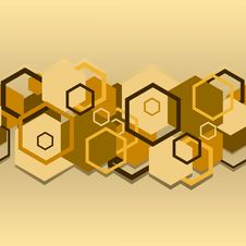 Free Seamless A Background With Hexagons Royalty Free Stock Photos - 14212188