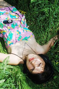 Free Lying In Grass Stock Photography - 14212612