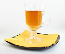 Сup Of Tea On Black Plate