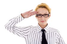 Free Woman Saluting Royalty Free Stock Images - 14213029