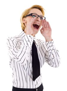 Free Business Woman Shouting Royalty Free Stock Photo - 14213035