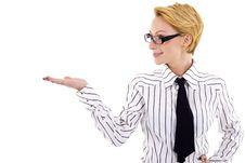 Businesswoman Presenting Stock Images