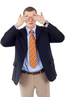 Free The See No Evil Gesture Royalty Free Stock Images - 14213129