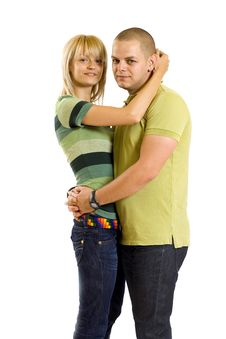 Free Young Embracing Couple Stock Images - 14213174