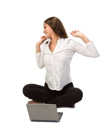 Free Businesswoman With Laptop Stock Photos - 14213793