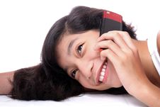 Free Lady With Mobile Phone Royalty Free Stock Photography - 14214367