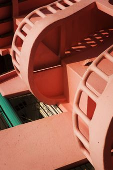 Free Pink Spiral Stairs Stock Photo - 14215900
