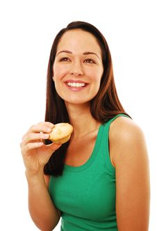Free Woman With Sweet Pie Royalty Free Stock Image - 14216016