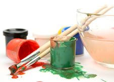 Free Paints And Brushes Royalty Free Stock Images - 14216079
