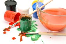 Free Paints And Brushes Stock Image - 14216141