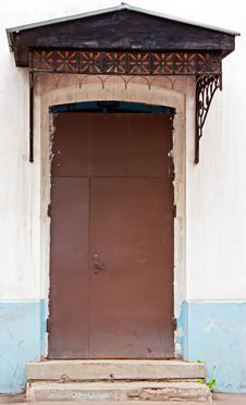 Brown Metal Door Royalty Free Stock Image