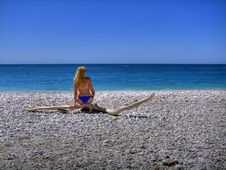 Free Girl On Beach Royalty Free Stock Photography - 14216697