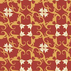 Free Seamless Floral Ornament Pattern Royalty Free Stock Photos - 14217298