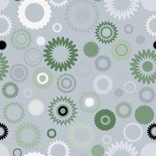 Seamless Gear Pattern Stock Image