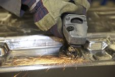 Free Angle Grinder Royalty Free Stock Photography - 14217957
