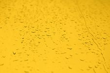 Free Yellow Water Drops Background Royalty Free Stock Photo - 14218775