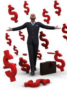 Free Money Rain Royalty Free Stock Photos - 14218848