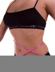 Waist Measurement Royalty Free Stock Image