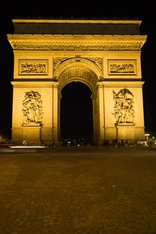 Free The Arc Of Triomphe, Paris Royalty Free Stock Images - 14219319