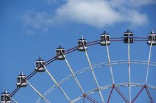 Free Big Wheel Against The Blue Sky Royalty Free Stock Photography - 14219617