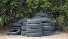 A Stack Of Tires Royalty Free Stock Photo