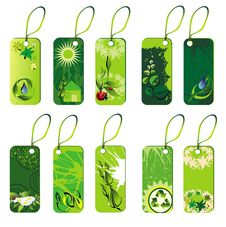 Free Ecology Set Of Tags Stock Images - 14219744