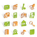 Free Mobile Phone And Computer Icons Stock Image - 14220601