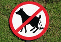 Free No Dog Poop Sign Royalty Free Stock Photography - 14222107