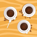 Free Three Coffee Cups Poster Royalty Free Stock Photos - 14225068