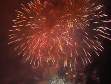 Free Fireworks Against The Dark Night Sky Stock Photo - 14220100