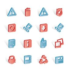 Free Web Site And Computer Icons Royalty Free Stock Photo - 14220555