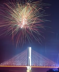 Free Bridge Night Royalty Free Stock Photos - 14220568