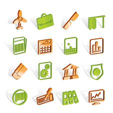 Free Business And Office Icons Royalty Free Stock Image - 14220596