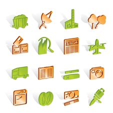 Free Business And Industry Icons Royalty Free Stock Image - 14220606