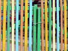 Free Russian Colorful Fence Royalty Free Stock Photography - 14220687