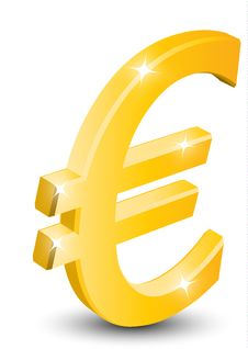 Free 3D Gold Euro Sign Stock Photos - 14220943