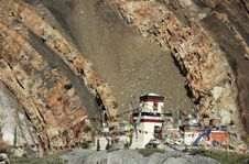 Free Tibetan Temple In Himalayas. Royalty Free Stock Image - 14221226