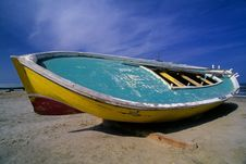 Egyptian Fishing Boat Royalty Free Stock Photo