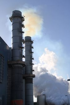 Free First Fire Of Smoke Stacks Stock Images - 14221454