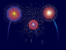 Free Fireworks Display Royalty Free Stock Photo - 14221965