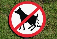 No Dog Poop Sign Royalty Free Stock Photography