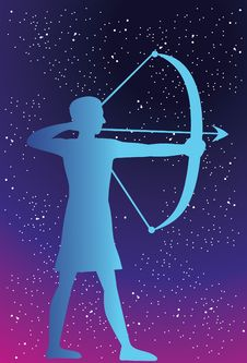 Free Sagittarius - Shooting It Straight. Stock Photography - 14222662