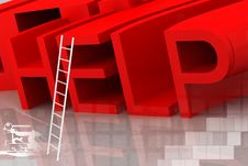 Free Help And Ladder Royalty Free Stock Image - 14222766